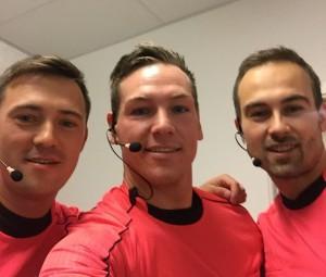 David i midten med Ademir på venstre side  og Kirril på højre side