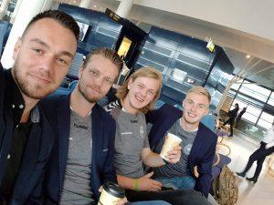 Adis, Henrik, Christian og Oliver på vej til Norge